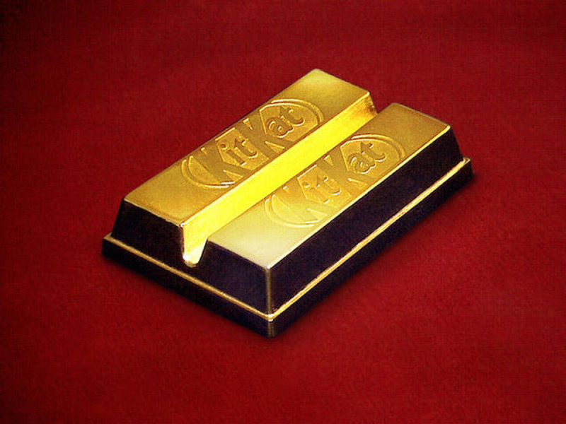 Gold-Coated Kit Kat Bar