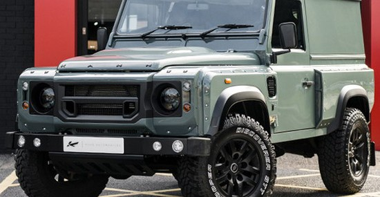 Keswick Green Land Rover Defender 2.2 TDCI Hard Top by Chelsea Wide Track
