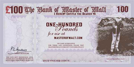 Master of Malt's Evil Gift Vauchers