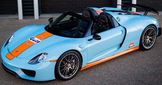 one of only two produced porsche 918 spyder in gulf colors on sale extravaganzi. Black Bedroom Furniture Sets. Home Design Ideas