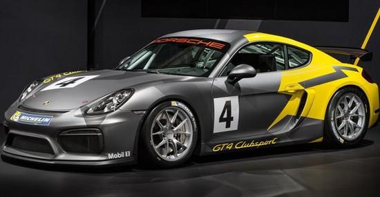Racing Porsche Cayman GT4 Clubsport