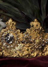Dolce&Gabbana Multicolor Crystal And Filigree Crow