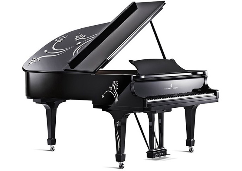 Steinway Heliconia Piano by Lalique
