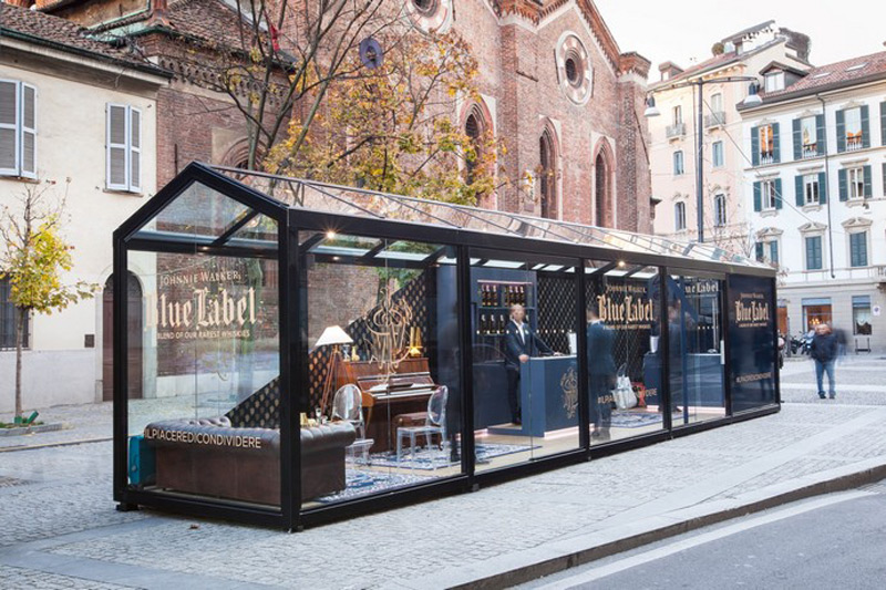 Johnnie Walker Blue Pop Up Store In Milan