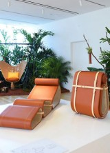 Louis Vuitton Lounge Chair by Marcel Wanders At Objets Nomades Exhibition In Miami