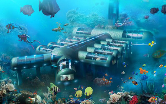 """Planet Ocean"" – World's First Entirely Underwater Hotel"