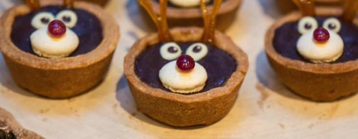 Rudolph The Ruby-Nosed Reindeer Tarts With Rubies