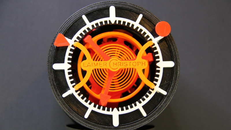 World's First 3D-Printed Watch With Tourbillon by Laimer Christoph