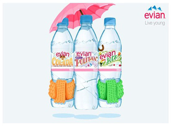 Evian's Limited Edition Cocktail-Themed Bottles For Dry January