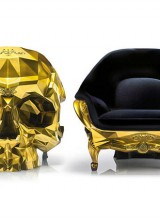 Gold Skull Armchair For Supervillains With Deep Pockets