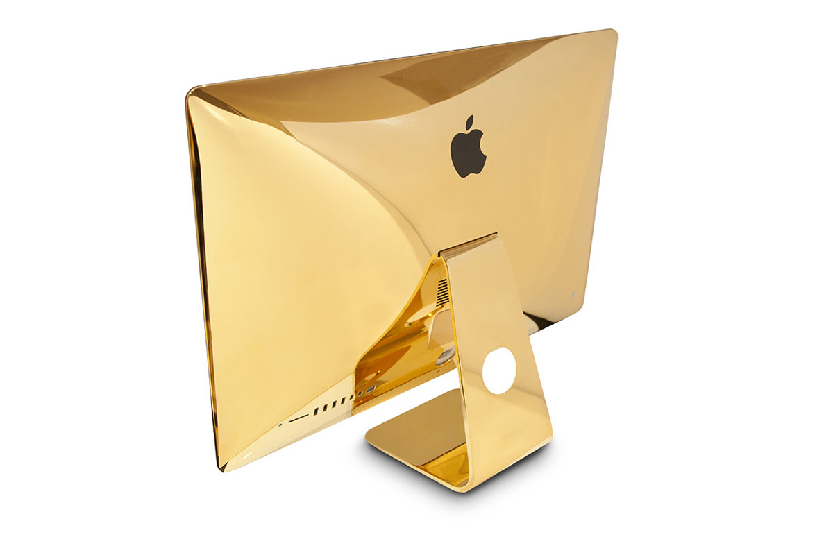 Goldgenie Embellishes Your iMac With 24k Gold
