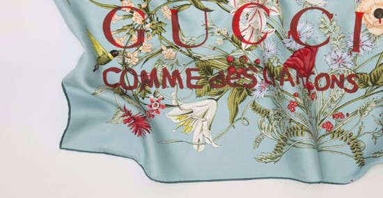 New Collection of Gucci Silk Scarves by COMME des GARÇONS