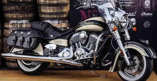 Special Jack Daniel's Indian Chief Vintage Motorcycle