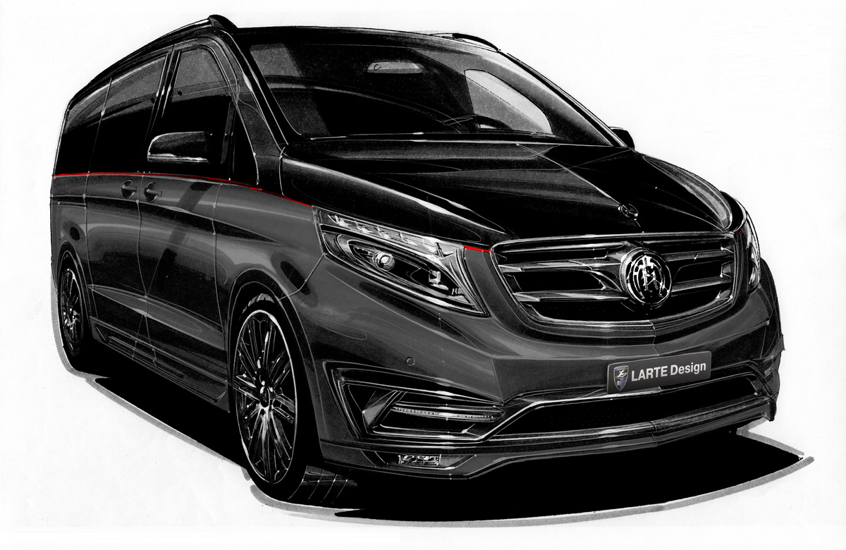 LARTE Design shows amazing Black Crystal V-Class in Geneva