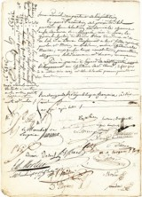 Rare Marriage Document Signed by Napoleon and Josephine On Sale