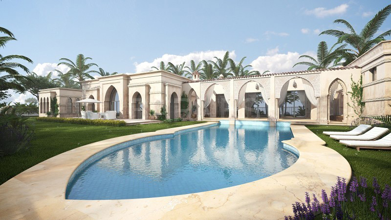 Moroccan Estate Under Construction in Caesarea, Israel On Sale