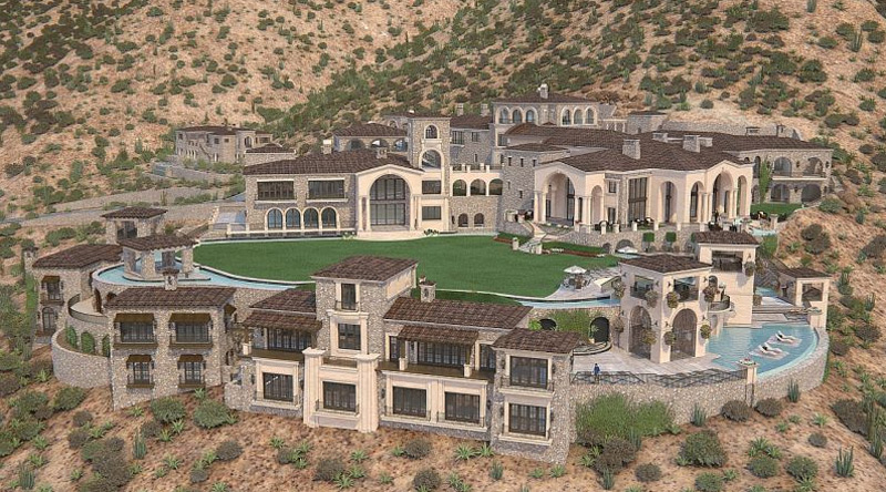 Huge Unfinished Scottsdale's Silverleaf Mansion Sold For Just $5 Million