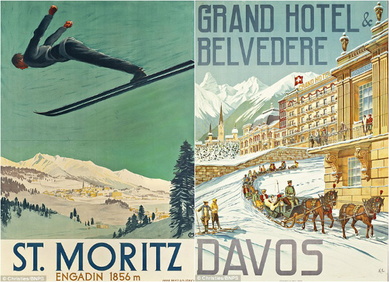 A collection of 197 vintage holiday posters may fetch £1million!