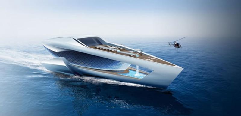 A futuristic 262 feet superyacht