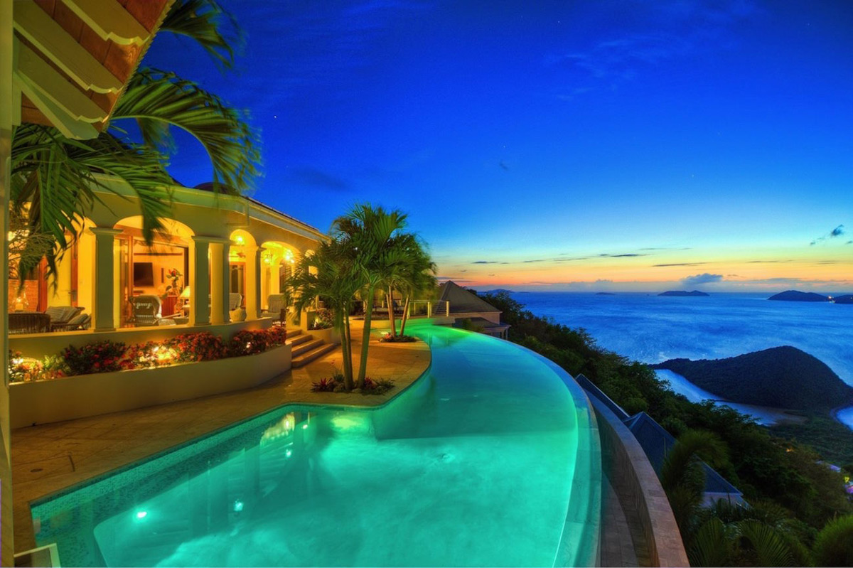 Celestial House On A Hill At Tortola Island On Sale