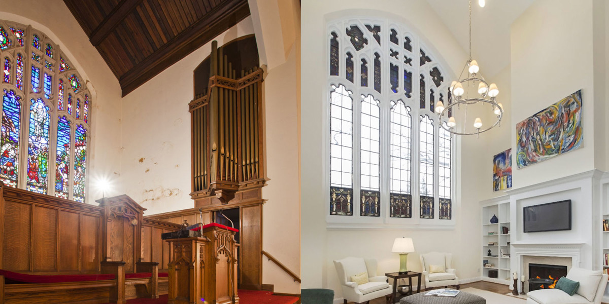 Church In Philadelphia Turned Into Contemporary Condominium Complex
