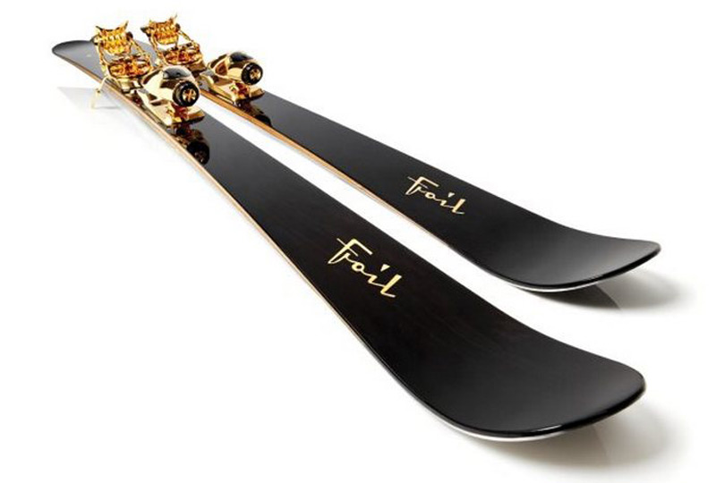 Gold-Plated Foil Oro-Nero Skis Will Cost You $50,000