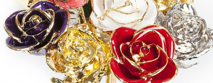 Real Roses Preserved in 24k Gold by Goldgenie