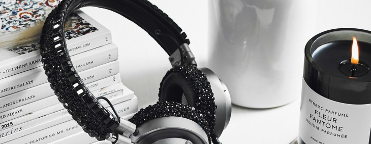 Swarovski crystal-beaded MH30 On Ear Headphones