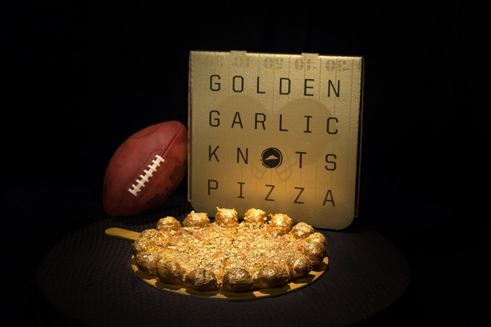Golden Garlic Knots Pizza Marks the Golden Anniversary of the Super Bowl 50
