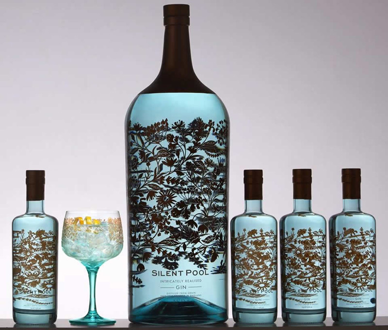 Silent Pool Unveils World's Largest And Most Expensive Bottle Of Gin