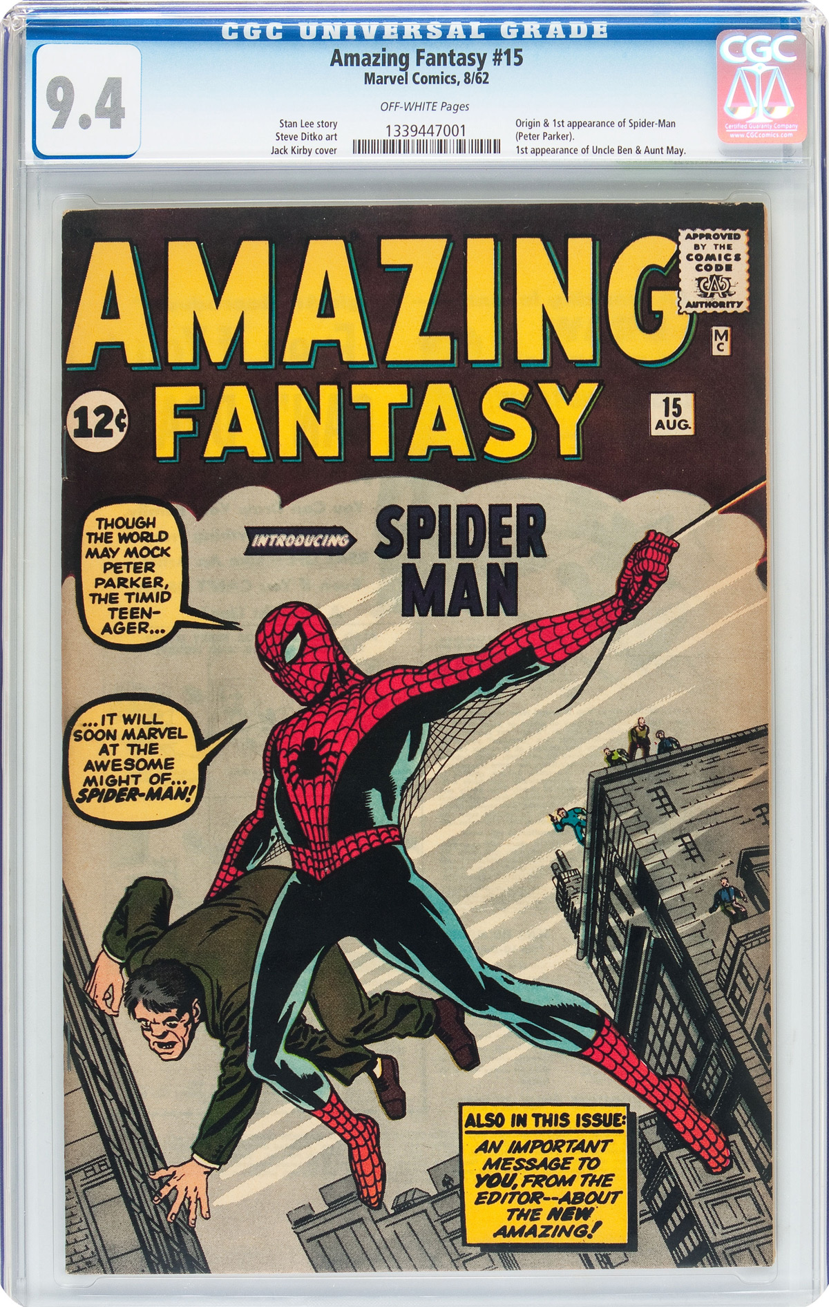 Spider-Man's First Appearance In Comic Book Sets World Record Price At Heritage Auctions