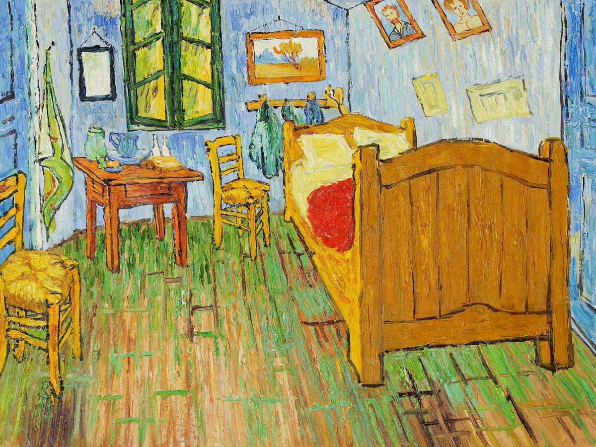 replica of van gogh 39 s bedroom as accommodation in chicago
