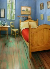 Replica of Van Gogh's Bedroom As Accommodation In Chicago