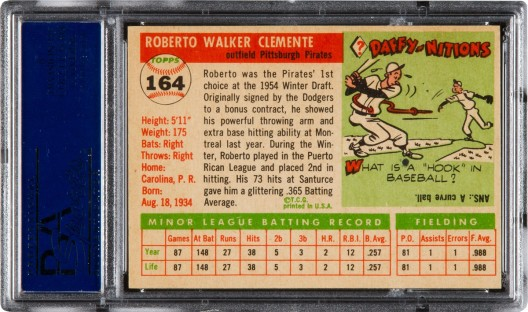 1955 Clemente rookie brings record $478,000 in Heritage's $9.3+ million New York Platinum Night