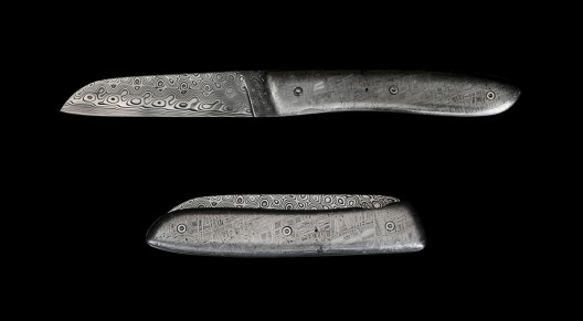 Damascus Steel Bladed Meteor Knives