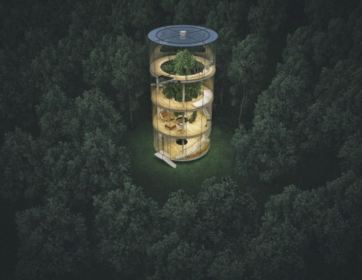 """""""Tree in the House"""" – Glass Treehouse"""