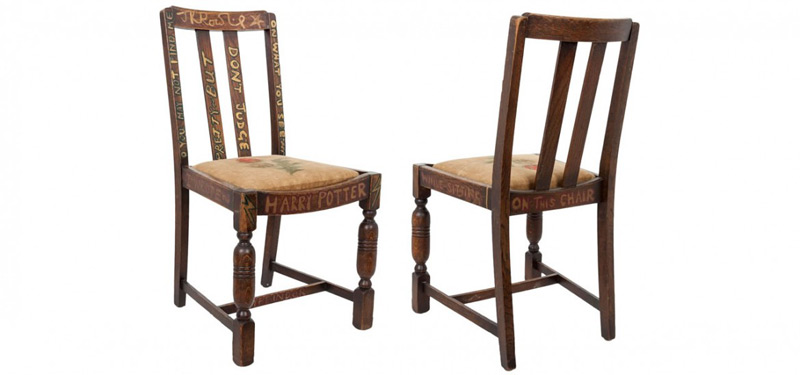 J.K. Rowling's 'Harry Potter Chair' Goes Under The Hammer