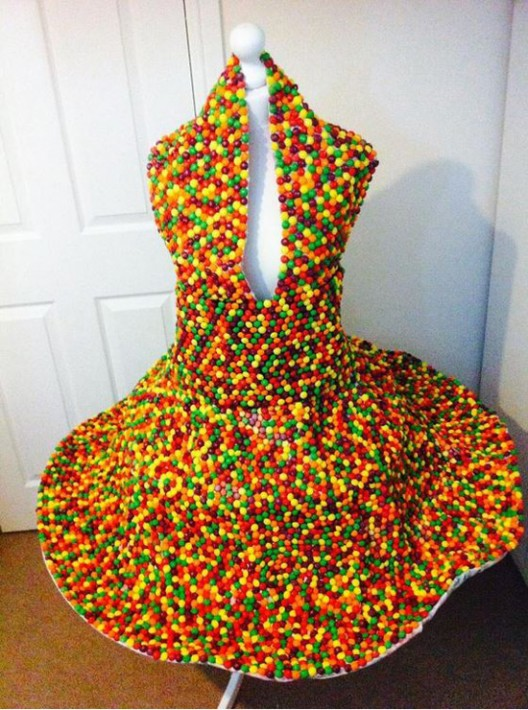 A Dress Made Of Skittles Candy