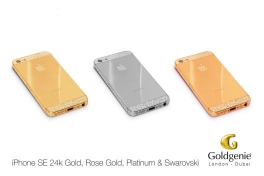 Pre-order Your iPhone SE In 24k Gold, Rose Gold or Platinum & Swarovski