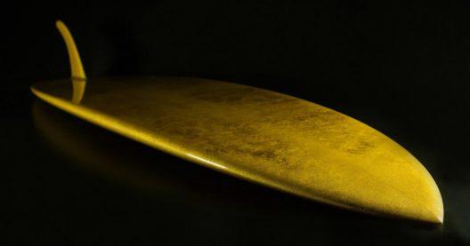 World's First 24-Karat Gold Leaf Surfboard