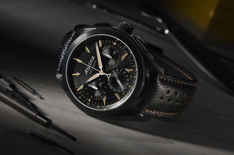 Alpiner 4 Black Flyback Manufacture Chronograph