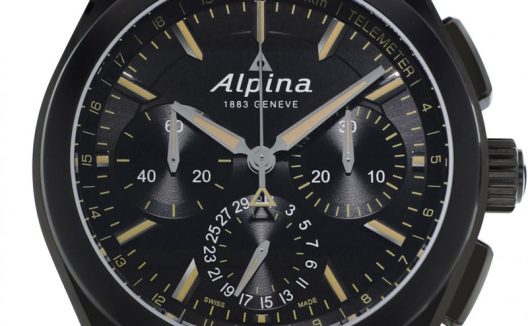 Alpiner 4 Black Flyback Manufacture Chronograph