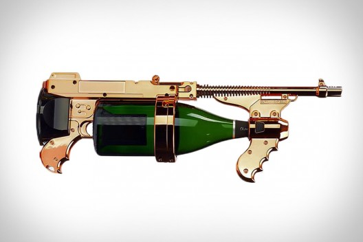 World's First Champagne Gun