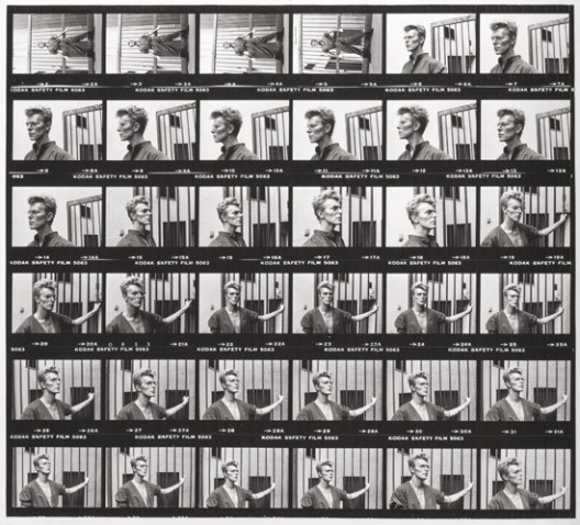 Never Before Seen Contact Sheet of David Bowie At Auction