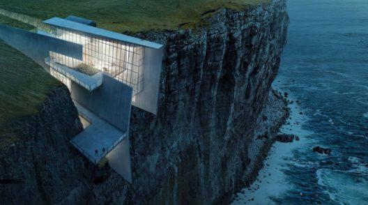 Icelandic Cliffside Retreat With Breathtaking Oceanic Views