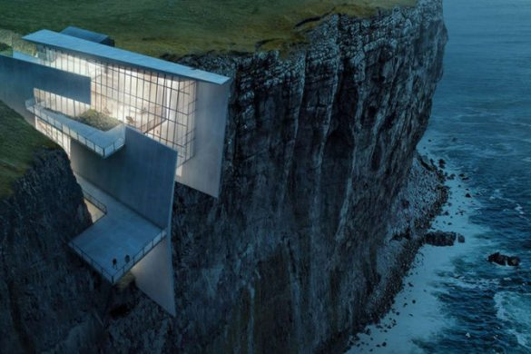 Icelandic Cliffside Retreat With Breathtaking Oceanic Views