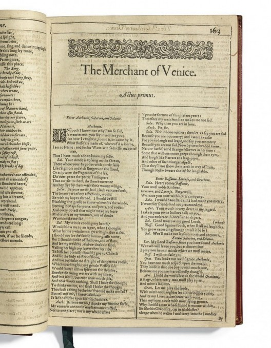 Christie's Offers First Four Folios Of Shakespeare's Collected Works