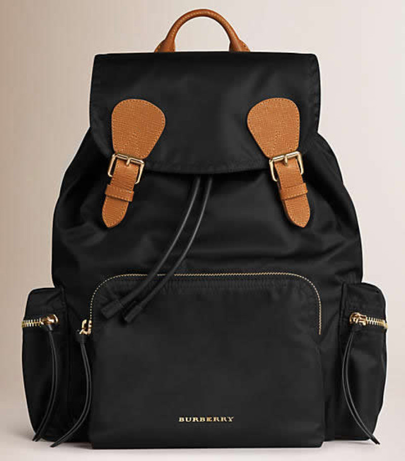 Burberry's Large Rucksack in Technical Nylon and Leather