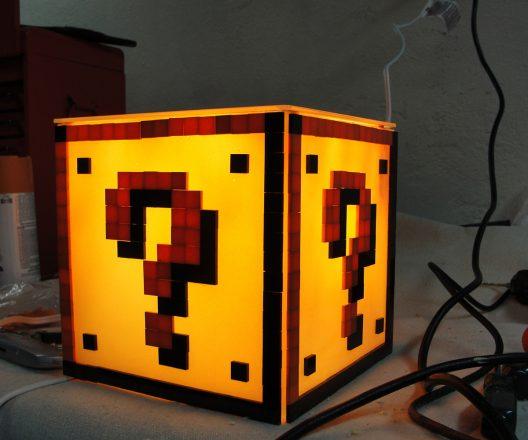 Super Mario Bros Inspired Question Block Lamp
