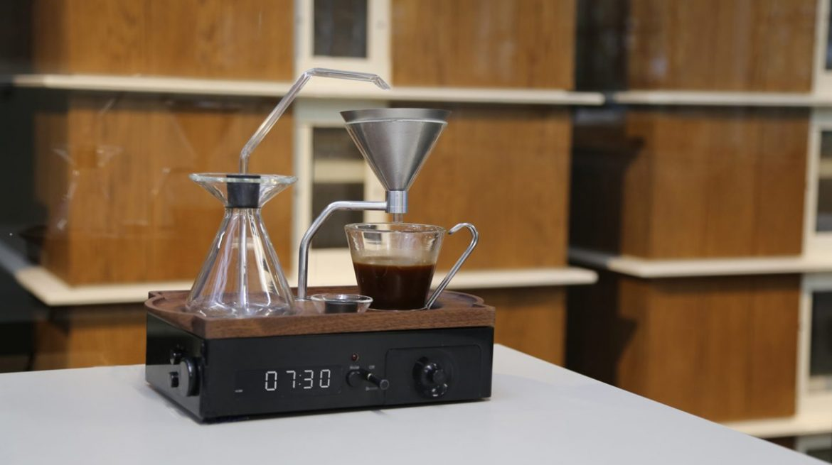 The Barisieur by Josh Renouf - Alarm Clock And Coffee Brewer In One